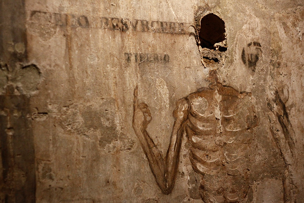 A mural at The Catacombs of San Guadioso