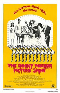 Theatrical release poster for the film, The Rocky Horror Picture Show