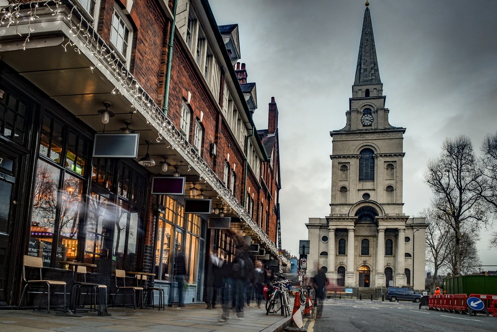 Christ Church, Spitalfields, relatively unchanged since the time of the killings.