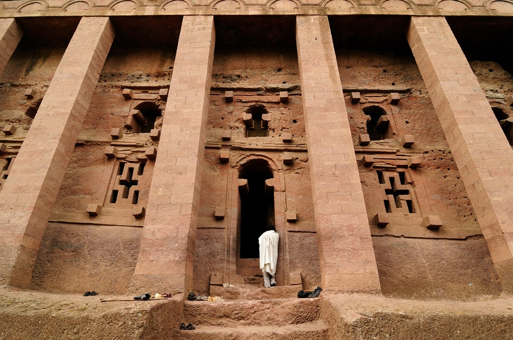 Lalibela rock-hewn church pilgrimage site in Ethiopia