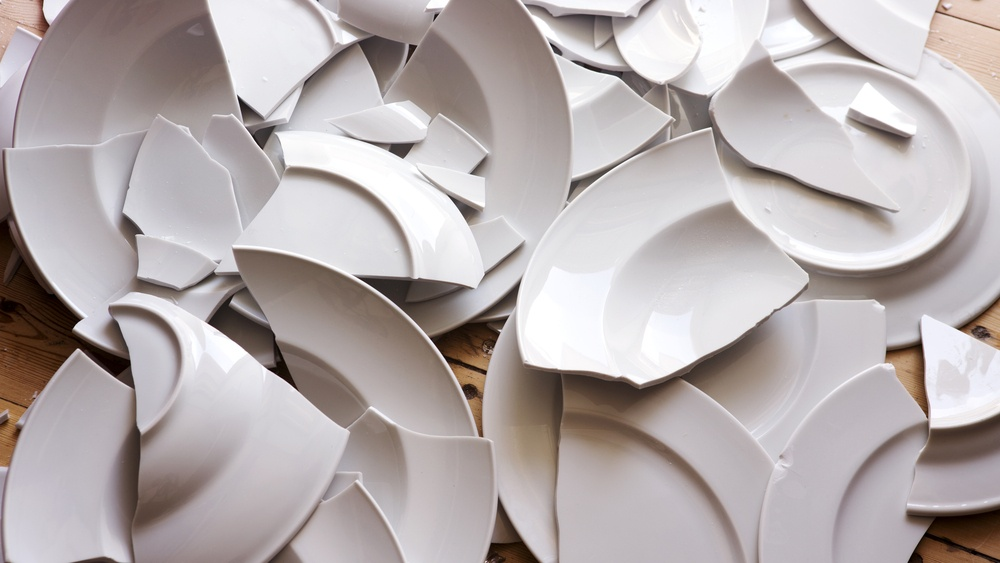 Broken plates for Danish New Year