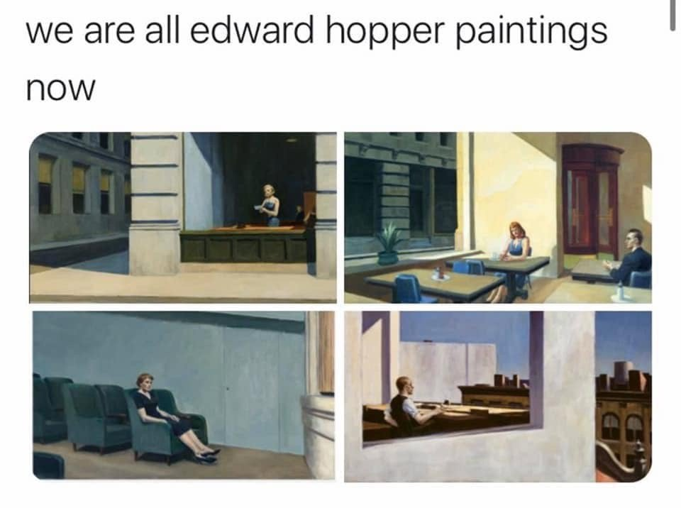 Four paintings by Edward Hopper