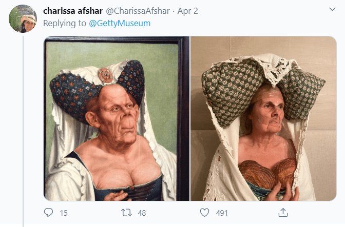 "A recreation of Quentin Matsys' painting ""A Grotesque Woman"""