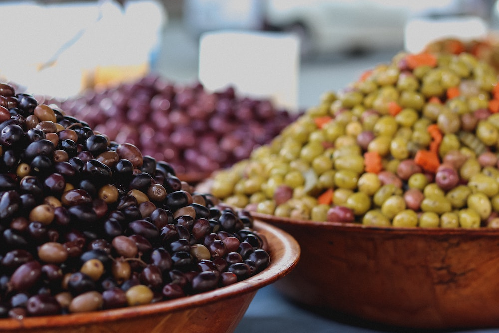 Olives are a great Italian snack