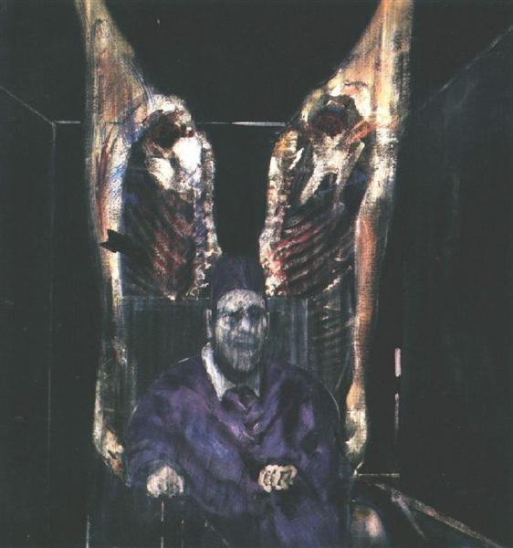 Figure With Meat, a painting by Francis Bacon.