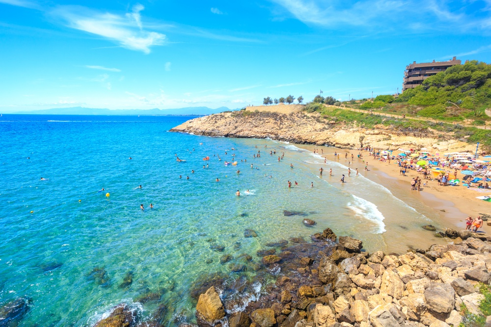 The beach resort of Salou, located a short drive from PortAventura is another wonderful day trip from Barcelona.