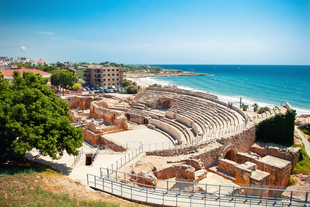 The seaside amphitheater of Tarragona, one of the best-preserved remnants of the Roman Empire in Spain.