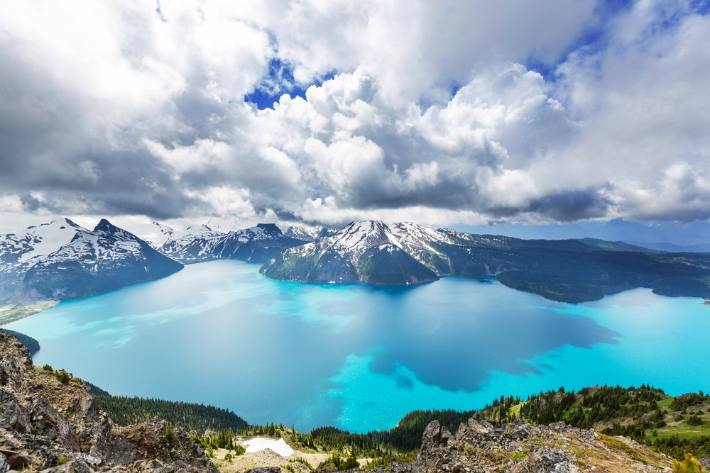 The view around Whistler, a recommendation for a weekend getaway from Vancouver.