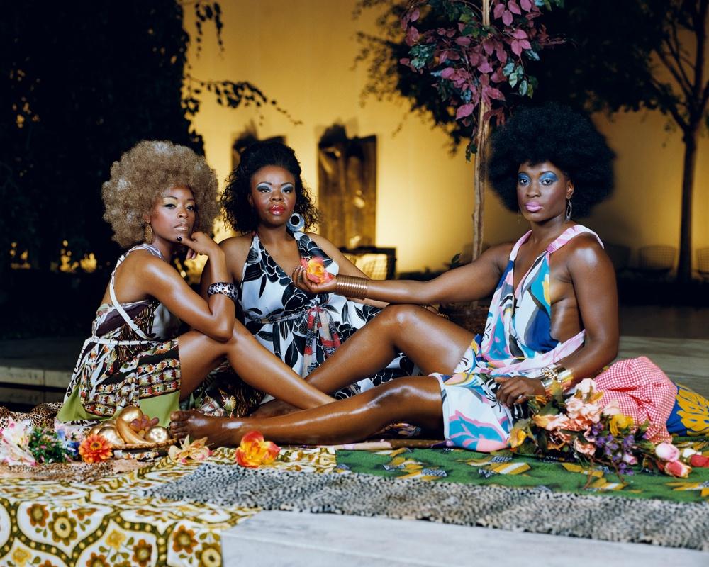 Le déjeuner sur l'herbe: Le Trois Femme Noires (2010) by Mickalene Thomas