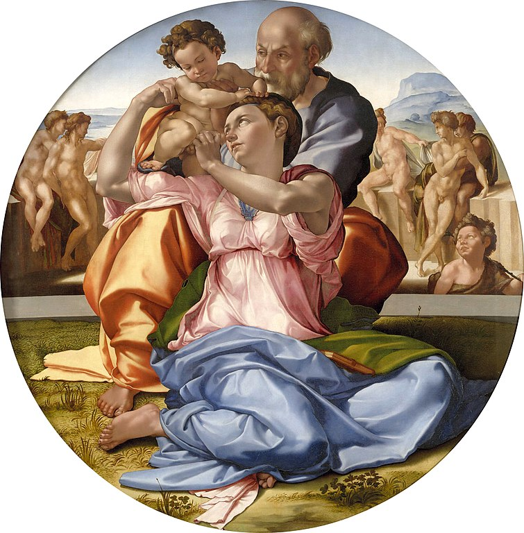 Doni Tondo by Michelangelo tells the human story of the holy family