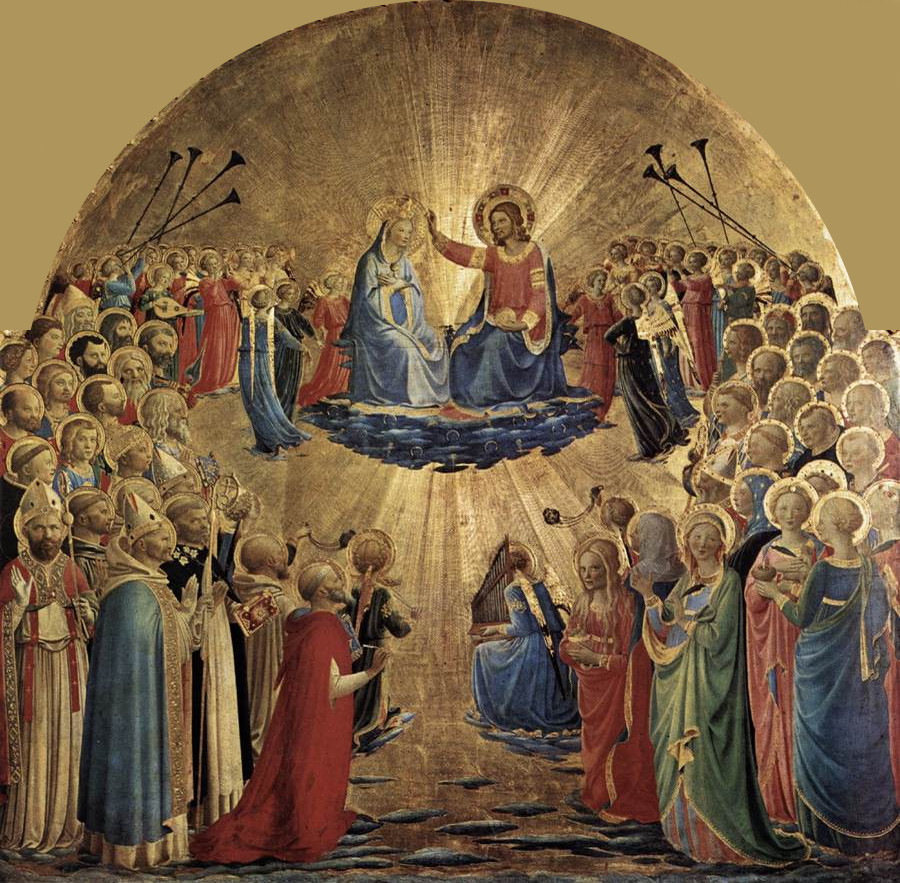 Coronation of the Virgin ( 1432) is a religious painting by Fra Angelico
