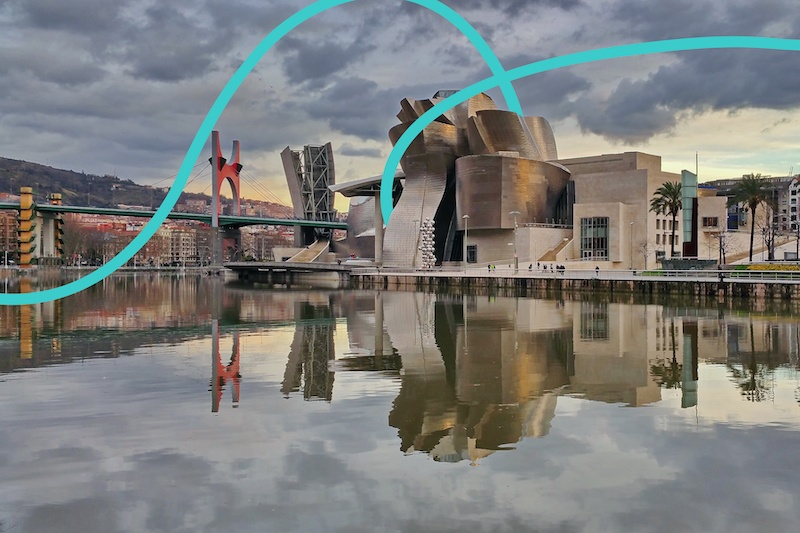 Don't miss the Guggenheim museum in Bilbao if you're looking for artsy landmarks in Spain.