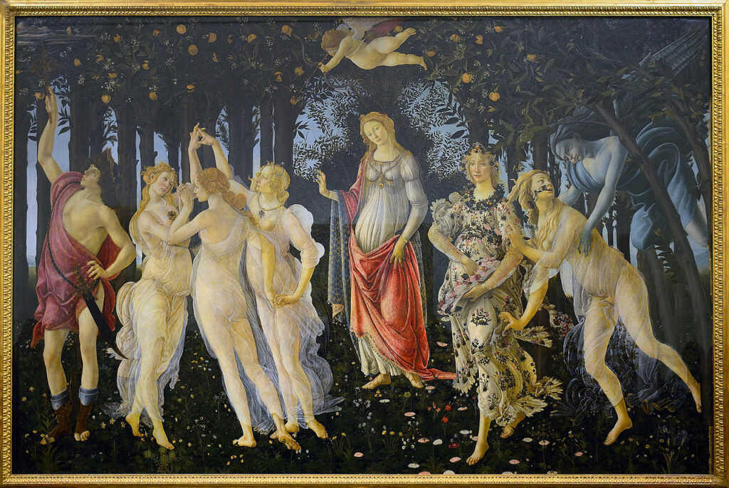 Primavera is a springtime painting by Botticelli