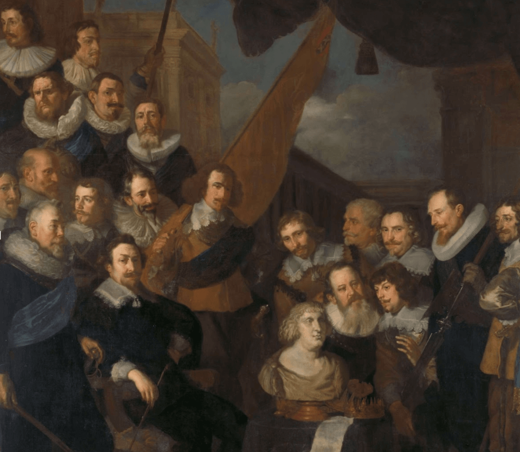 An example of the more sober military group portraits before The Night Watch.