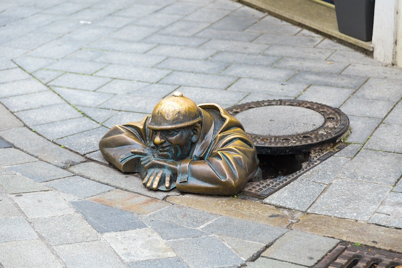 On your day trip from Vienna to Bratislava you'll find cool statues