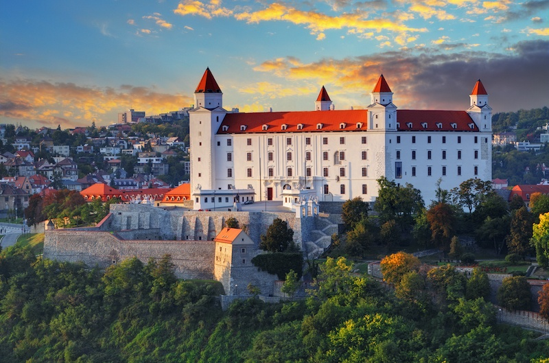 Bratislava Castle is a must when you're in Bratislava Old Town