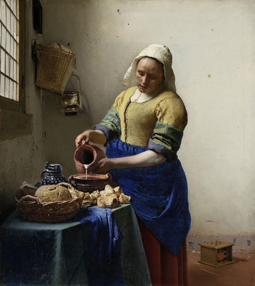 One of the top Rijksmuseum highlights in The Milkmaid by Vermeer.