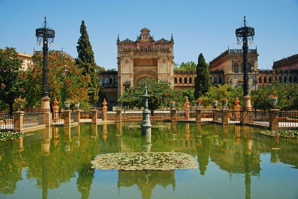 The outer area of the Archaeological Museum of Seville.