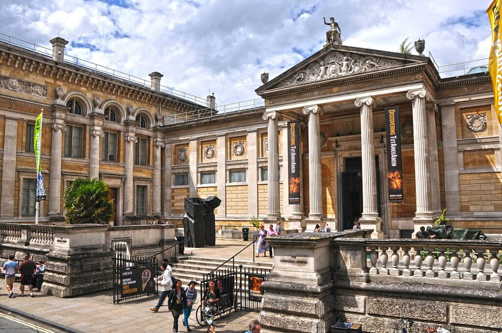 The entrance to the Ashmolean Museums, one of the oldest museums in the world.