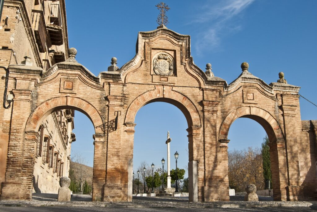 The gates of Sacromonte Abbey, which is now one of the top museums in Spain devoted to theological history.