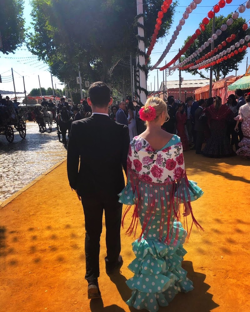 Feria de Abril is one of the best places to visit in Spain with family