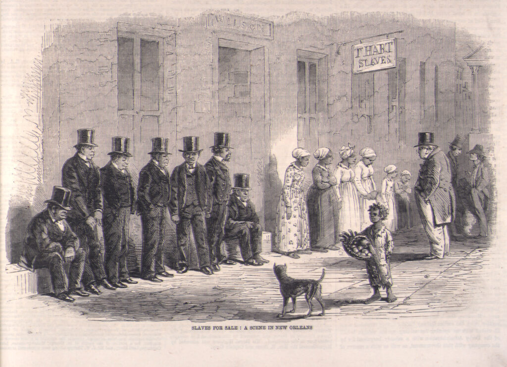 """Slaves Awaiting Sale, New Orleans, 1861"""", Slavery Images: A Visual Record of the African Slave Trade and Slave Life in the Early African Diaspora"""