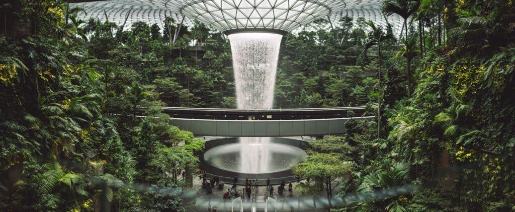 Jewel at Changi Airport, a new landmark in Singapore