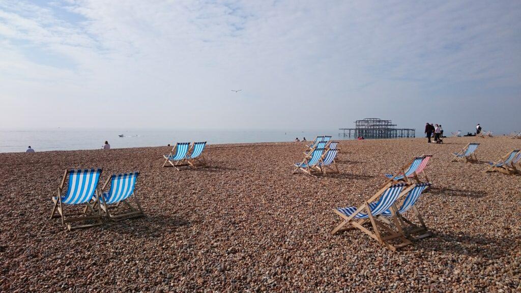 Beach chairs in Brighton