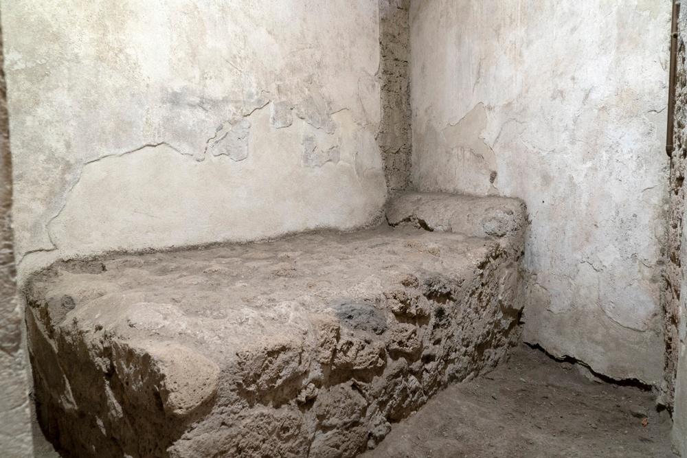The sad tiny room where Pompeii's prostitutes worked.