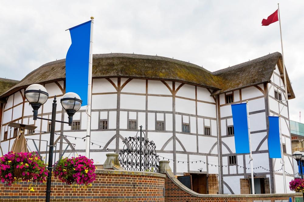 Shakespeare's Globe Theatre, a recreation of a famous historical London landmark.
