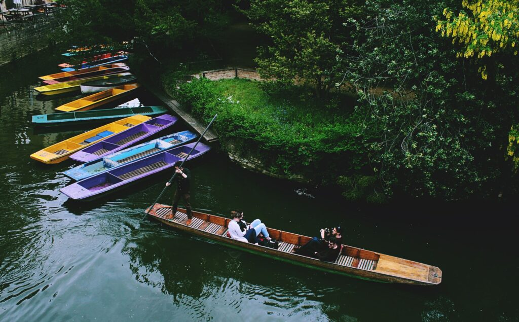 Take a boat ride in Oxford to explore the college town, considered one of the most beautiful places in England