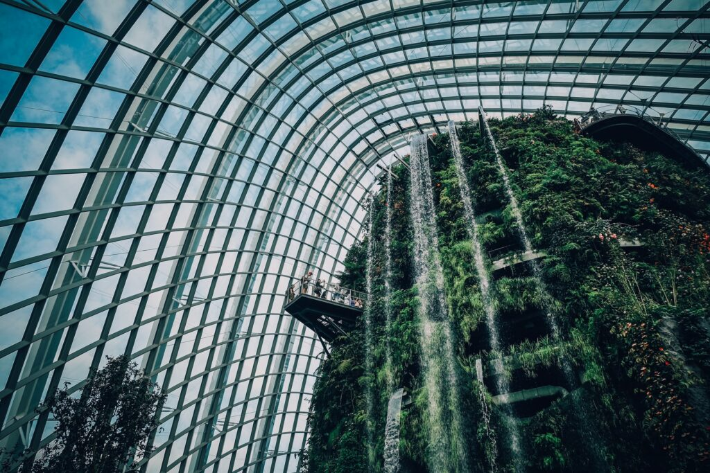 Cloud Forest is the newest most famous landmark in Singapore