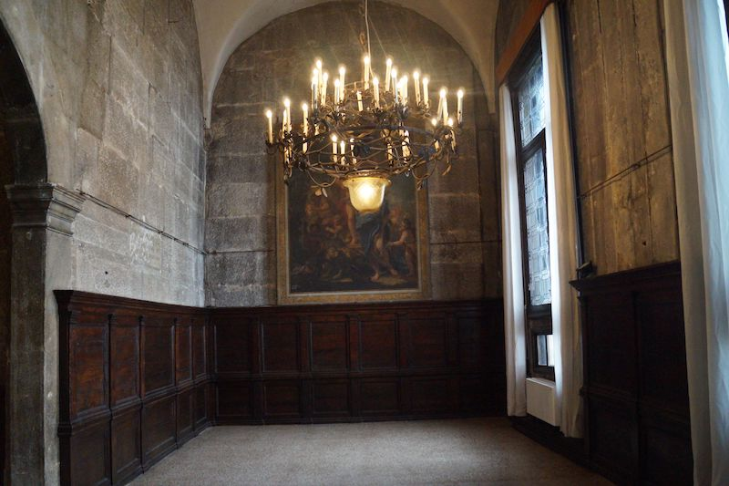 One of the creepy rooms inside Palazzo delle Prigioni, a 16th-century jail