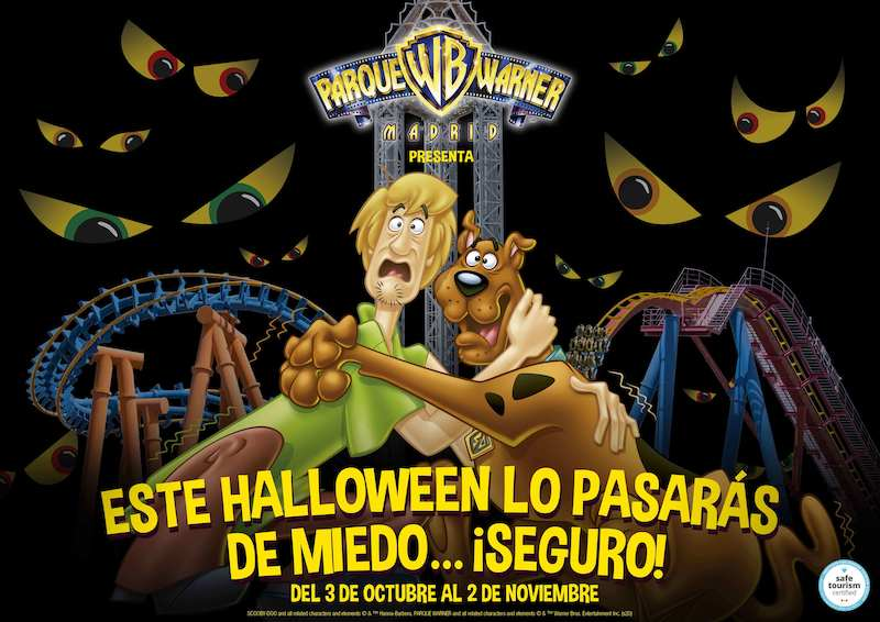 Parque Warner goes all-out Halloween amusement park this time of year.