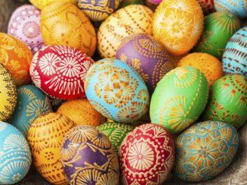 European Easter eggs.