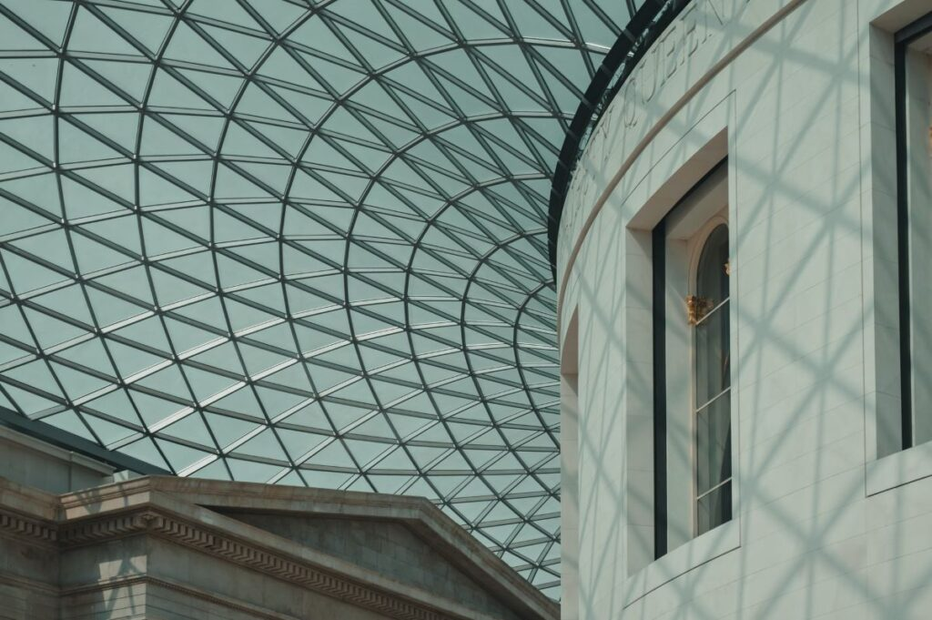 Glass roof of the British Museum