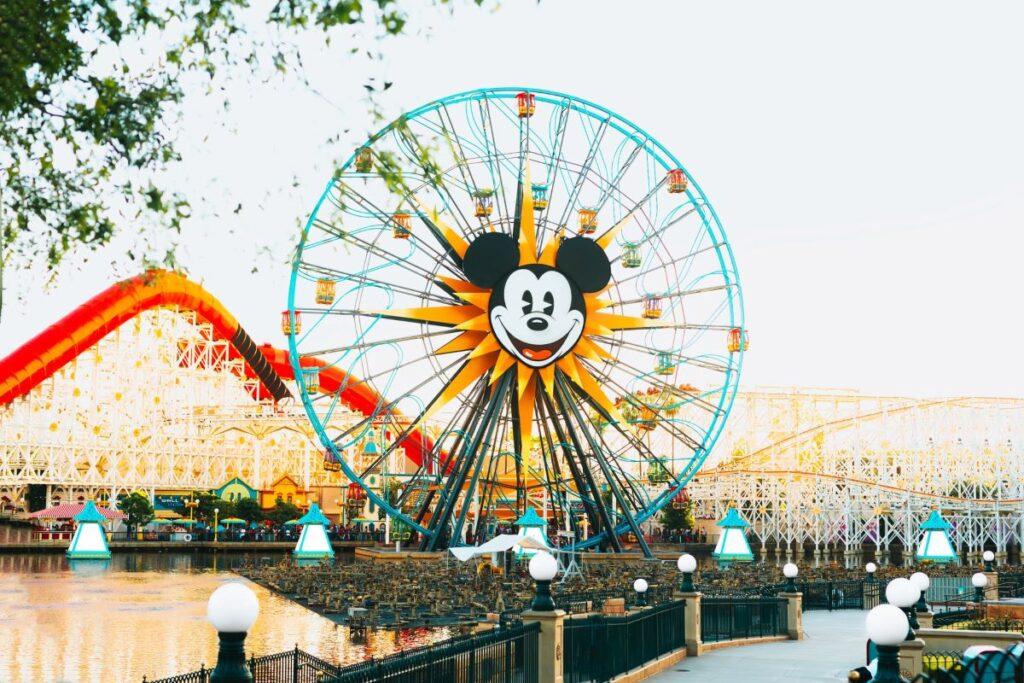 Mickey Mouse Ferris wheel in Disneyland California