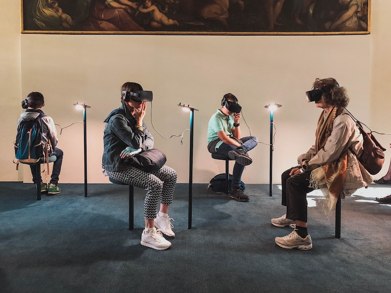 immersive experiences using VR headsets